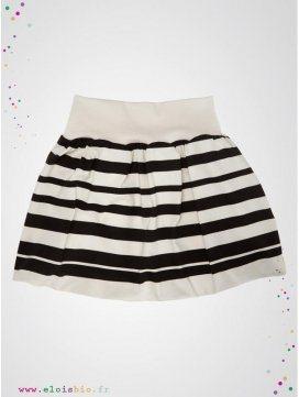 jupe-boule-enfant-imprimé-stripe-rayures-noires-coton-bio-europe-aarrekid