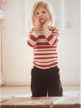 eloisbio-enfant-tshirt-rayuresrouges-fondgris