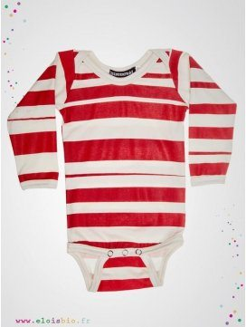 "Body enfant imprimé ""Stripe"" rayures rouges"