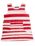 robe-enfant-stripe-rayures-rouges-coton-bio-aarrekid