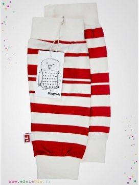 jambiere-enfant-stripe-rayures-rouges-coton-bio