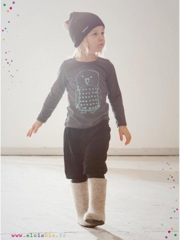 tee-shirt-enfant-gris-motif-hibou-coton-bio-aarrekid