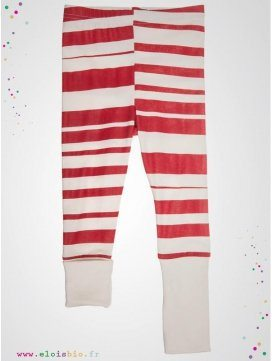 "Legging enfant imprimé ""Stripe"" rayures rouge"