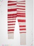 "Leggings ""Stripe"" rayé rouge"