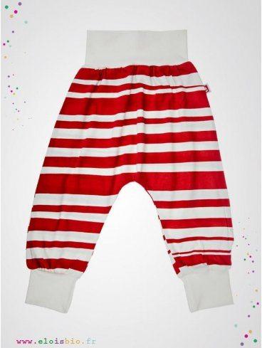pantalon-baggy-enfant-rayures-rouges-coton-bio-aarrekid