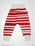 "Pantalon Baggy ""Stripe"" rayé rouge"