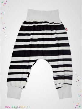"Pantalon Baggy ""Stripe"" rayures noires"