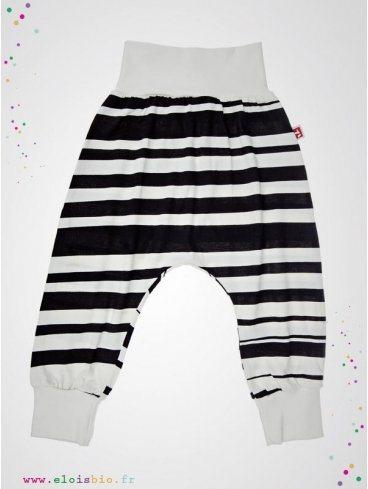 pantalon-baggy-enfant-rayures-noires-blanches-coton-bio-aarrekid