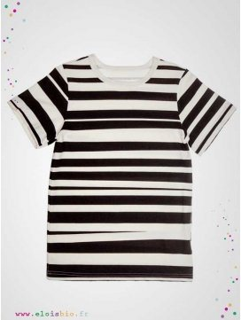"""Tee-shirt imprimé """"Stripe"""" manches courtes"""