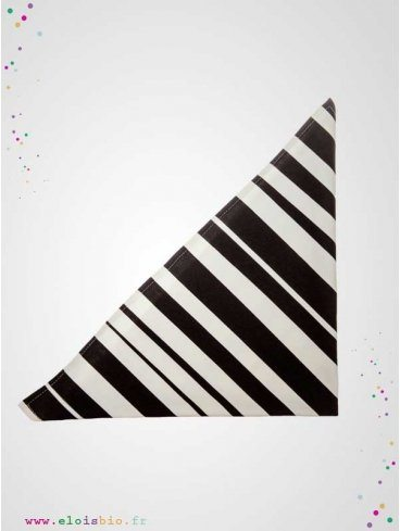 lange-foulard-rayures-noires-blanches-coton-bio-aarrekid