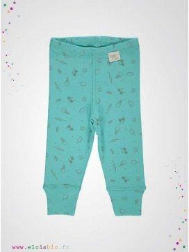 Leggings enfant turquoise motifs glaces