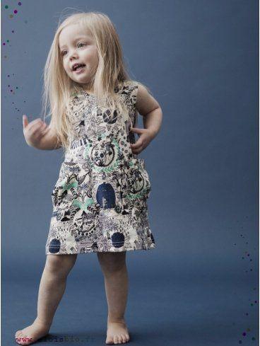 Robe-enfant-imprime-In-the-garden-coton-bio-aarrekid