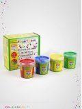 Peintures à doigts enfant rouge, jaune, vert, bleu