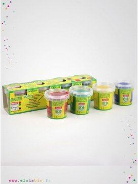 Pâtes à modeler enfant rouge, jaune, vert, bleu