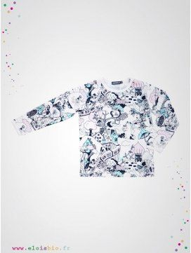 """T-shirt enfant manches longues """"The Valley"""""""
