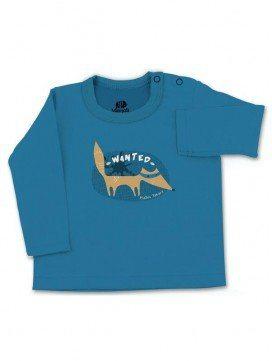 eloisbio-ts340 tee shirt bleu ma++ªtre renard