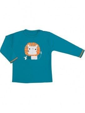 eloisbio-ts1404 minizabi tee-shirt-gar++ƒon-bleu- lion