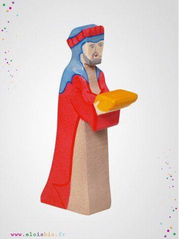 Gaspard le roi mage en bois
