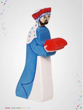 Melchior le roi mage en bois