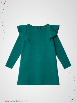 Robe Ruffle enfant coton bio fabrication Europe