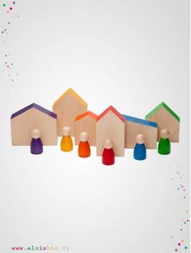 Nins et maisons en bois