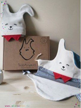 COFFRET 2 DOUDOUS LAPIN - SO FRENCHY