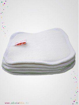 Carrés à démaquiller lavables coton bio