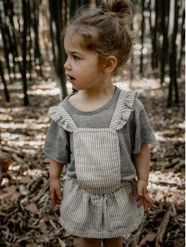 Robe enfant Aretha rayée coton bio
