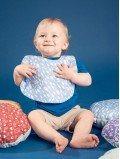 Bavoir bébé et enfant imprimé automnal chene