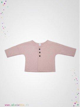 Veste kimono bébé rose