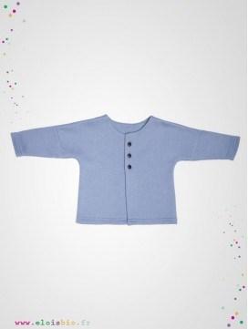 Veste kimono bébé bleu