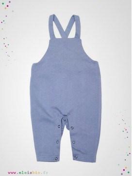 Salopette bébé bleu coton bio