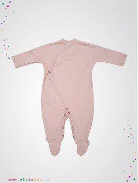 Pyjama kimono bébé rose coton bio