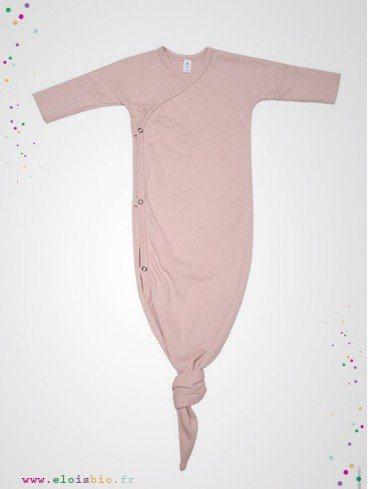 Gigoteuse kimono bébé rose coton bio