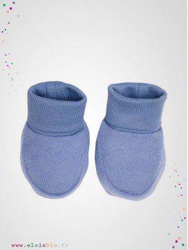 Chaussons bébé bleu