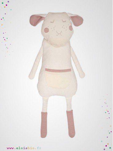 """Poupée, peluche souple """"Sheep"""" mouton coton"""