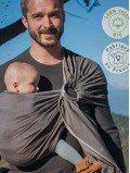 Echarpe de portage - Sling Marron Cappuccino coton bio