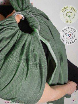 Echarpe de portage - Sling Vert Menthe coton bio