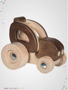 Tracteur en bois naturel