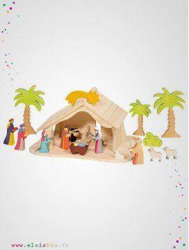 Crèche de Noël / Maison de poupée en bois