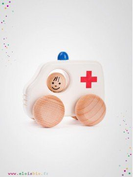 Petite ambulance en bois