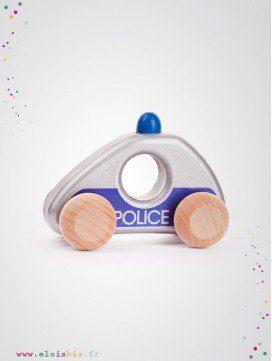 Voiture de police en bois