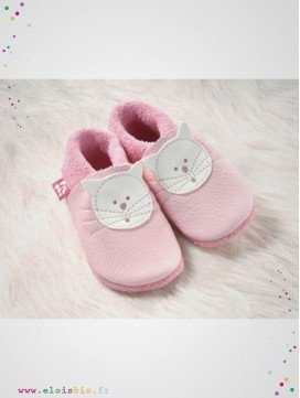 Chausson en cuir Kitty Rose