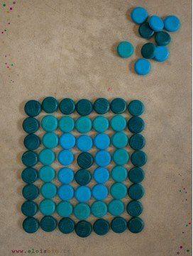 Mandala 36 pièces bleues