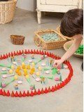 Mandala feu jeu enfant bois naturel