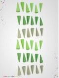 Mandala cônes vert 36 pièces