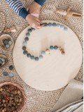 Mandala pierres jeu enfant bois naturel