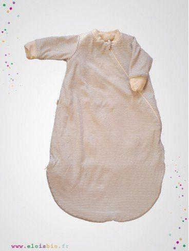 Gigoteuse bébé marinière hiver coton bio