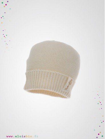 Bonnet bébé en maille coton bio