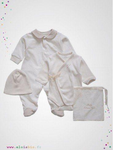 Ensemble vêtements bébé prématuré coton bio